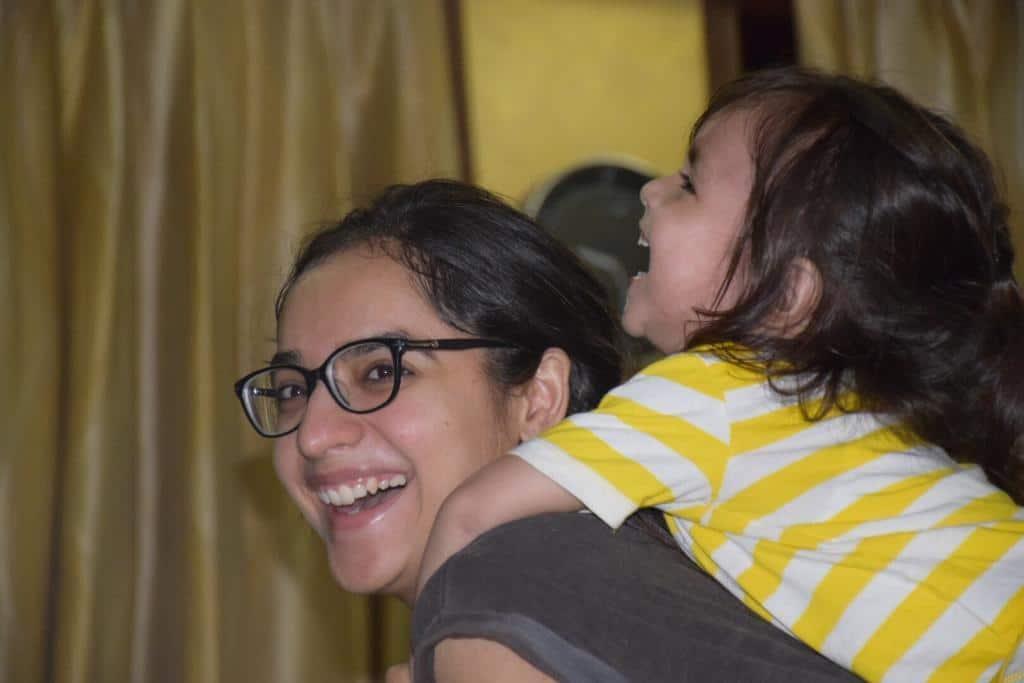 Lavleen Kaur dietitian with son Meharmeet