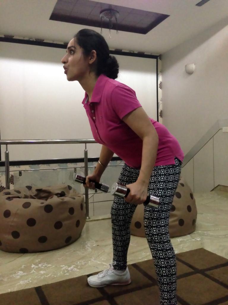 Dietitian Lavleen Kaur exercising